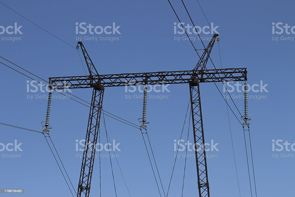 voltage tower royalty-free stock photo
