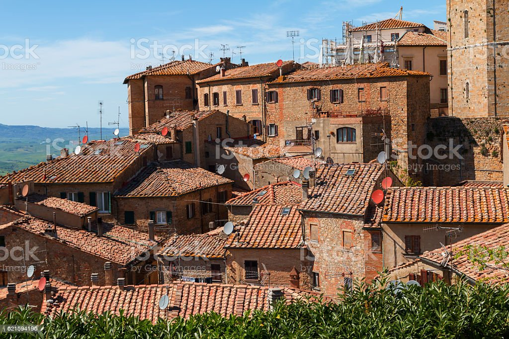 Volterra beautiful medieval town stock photo