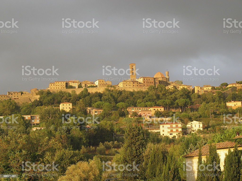 Volterra end of summer royalty-free stock photo