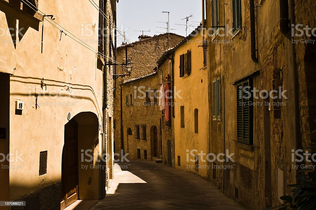 Volterra, Historic Walled Hill Town, Tuscany, Italy stock photo