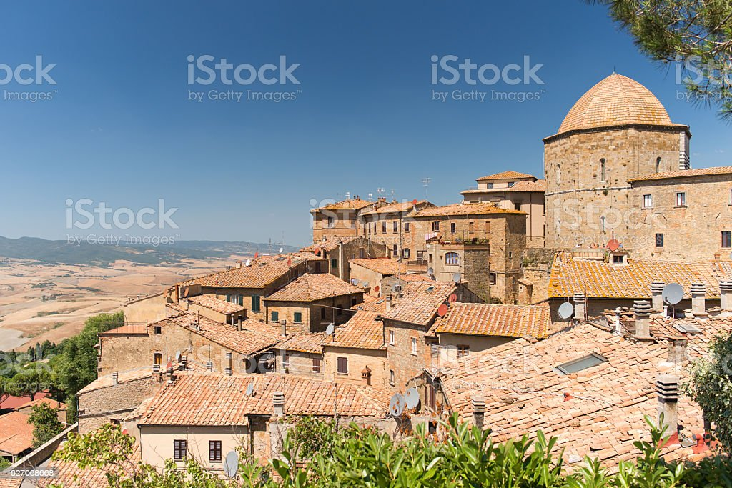 Volterra, medieval town in Tuscany stock photo