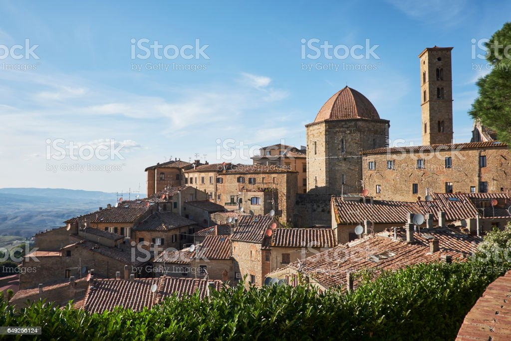 Volterra - medieval town of Tuscany, Italy stock photo