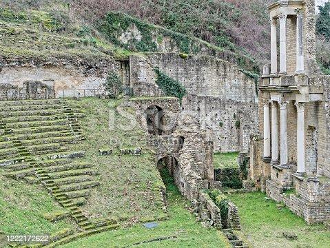 Volterra, roman theatre ruins in italy