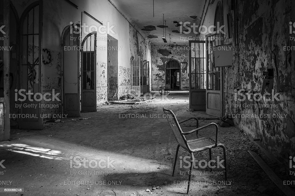 Volterra's sanitarium stock photo