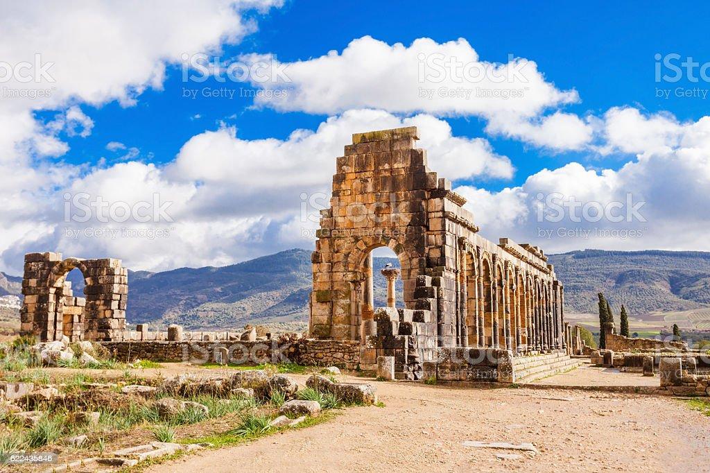 Volubilis in Morocco stock photo