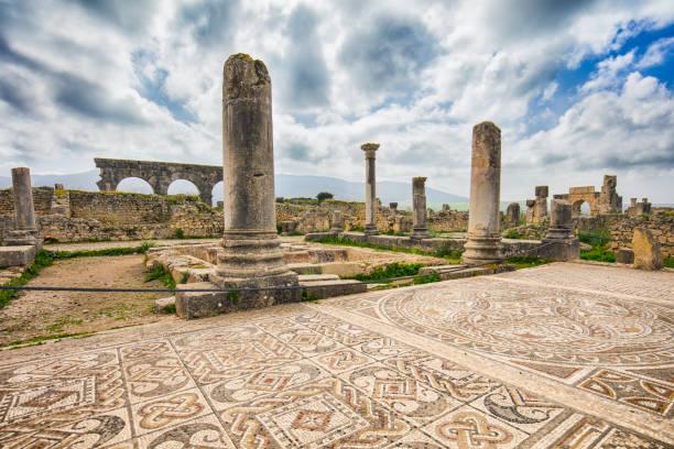 Volubilis Roman Old City stock photo