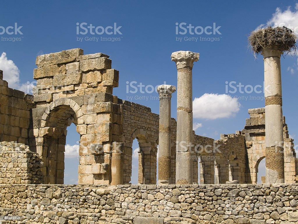 Volubilis Roman old city. royalty-free stock photo