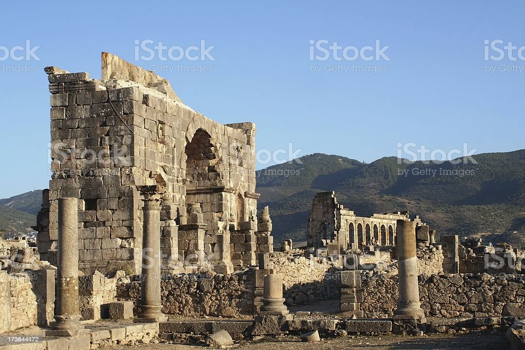 Volubilis ruins royalty-free stock photo