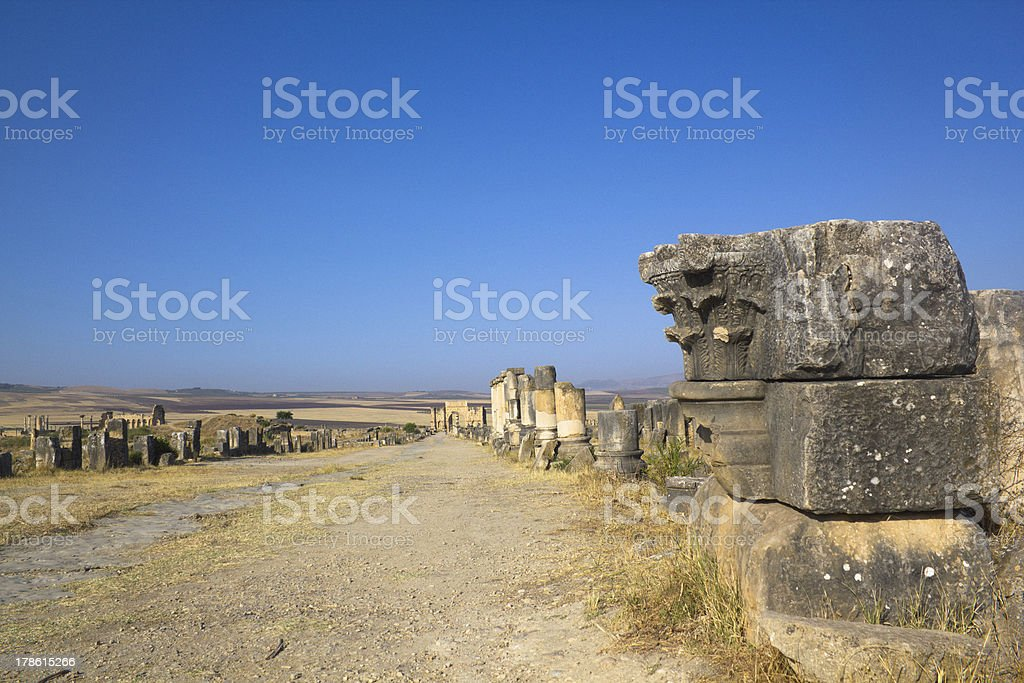 Volubilis ruins royalty-free stock photo