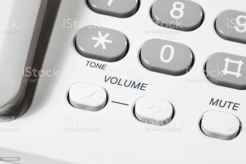 Volume and Mute Buttons stock photo