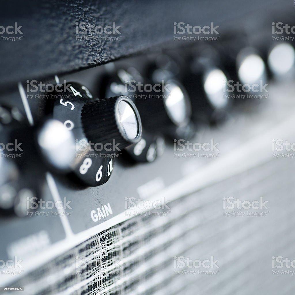 volume button guitar amplifier stock photo