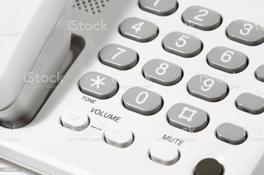 Volume Buttons on Telephone stock photo