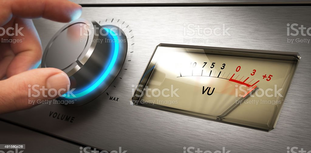 Volume Control, Hearing Problem stock photo