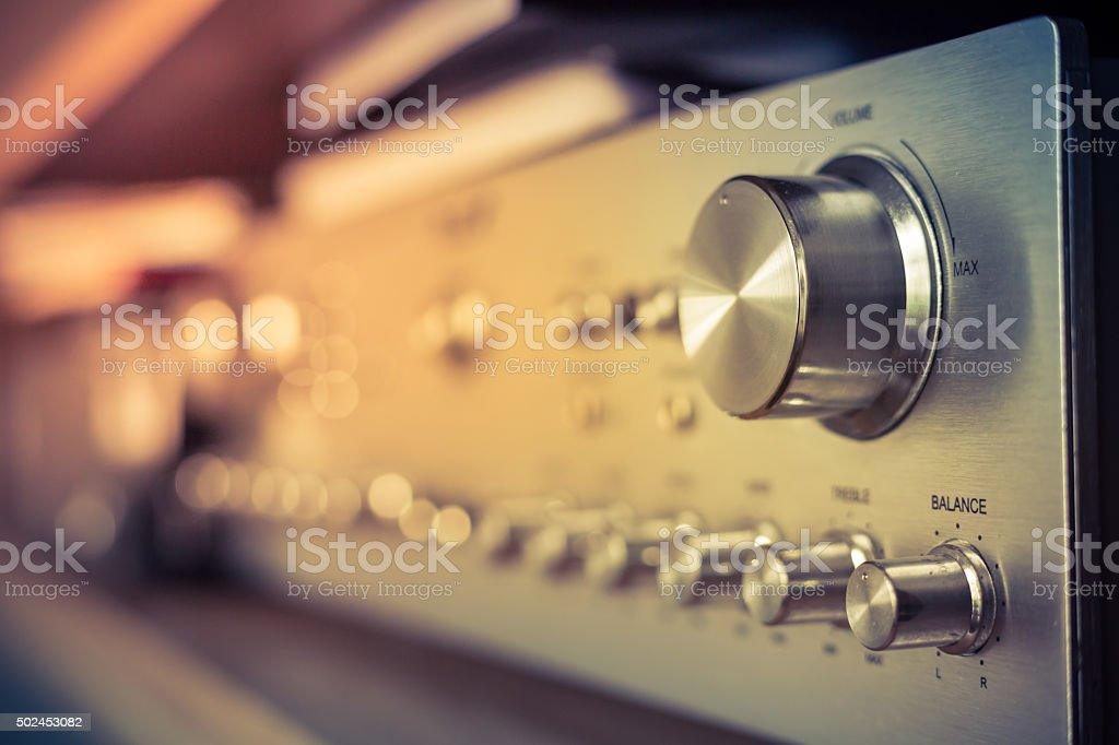 Volume control stock photo