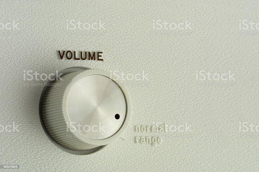 Volume Control royalty-free stock photo