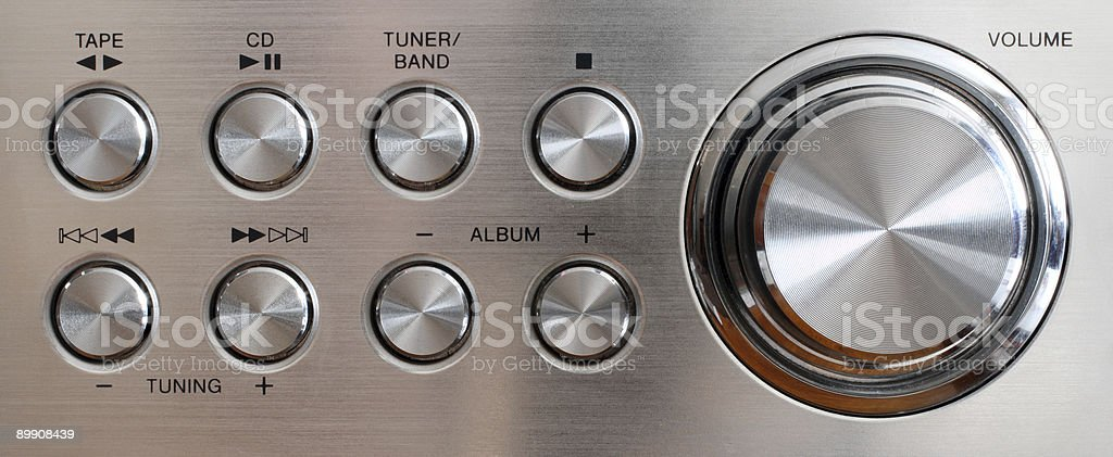volume handle and control buttons royalty-free stock photo