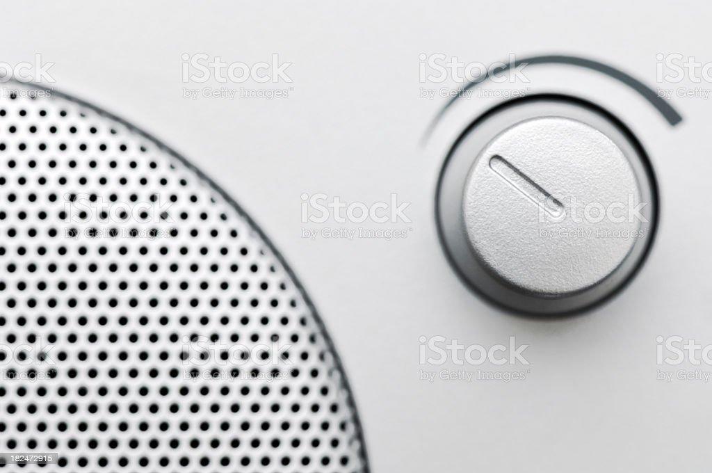 Volume knob of a radio stock photo