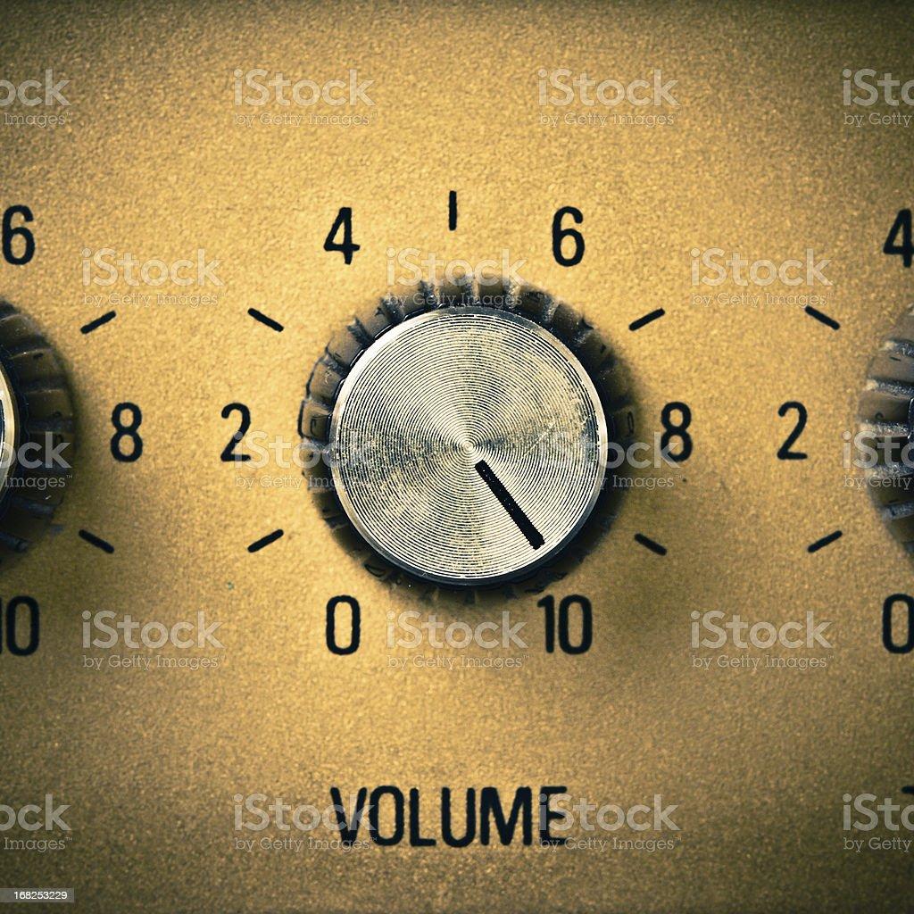 Volume Knob to the Max, Retro Mood stock photo