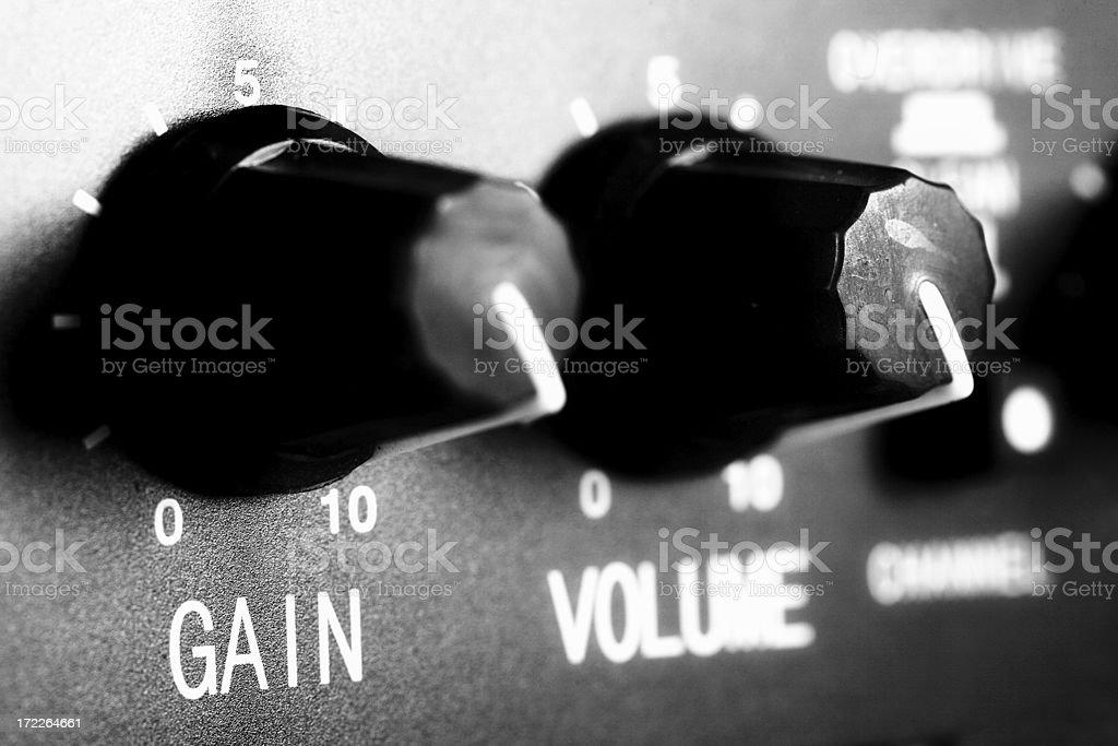 volume knobs stock photo