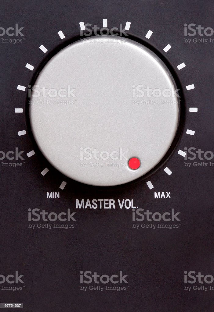 Volume switch on maximum royalty-free stock photo
