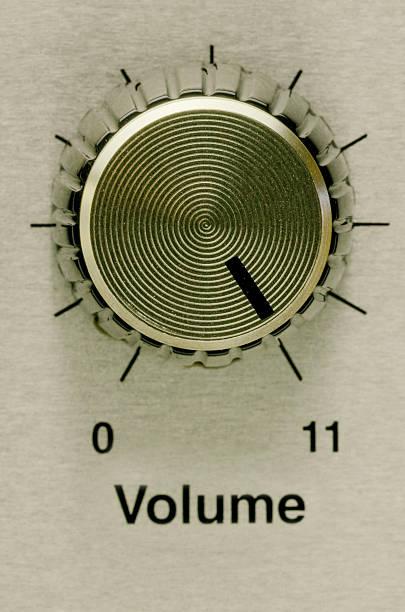 Volume to eleven stock photo