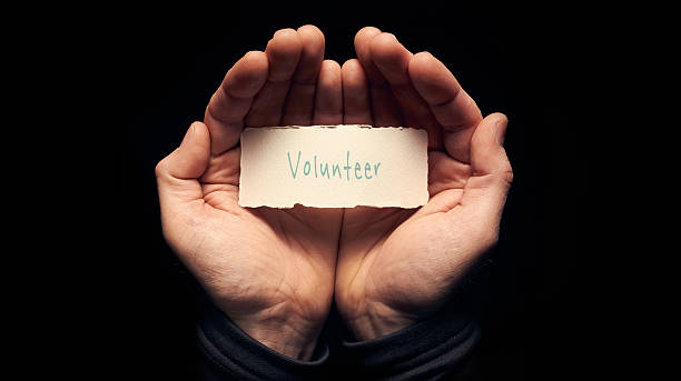 volunteer concept - help single word stock photos and pictures