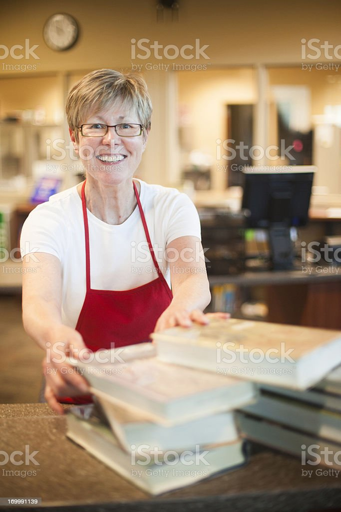Volunteer Librarian royalty-free stock photo