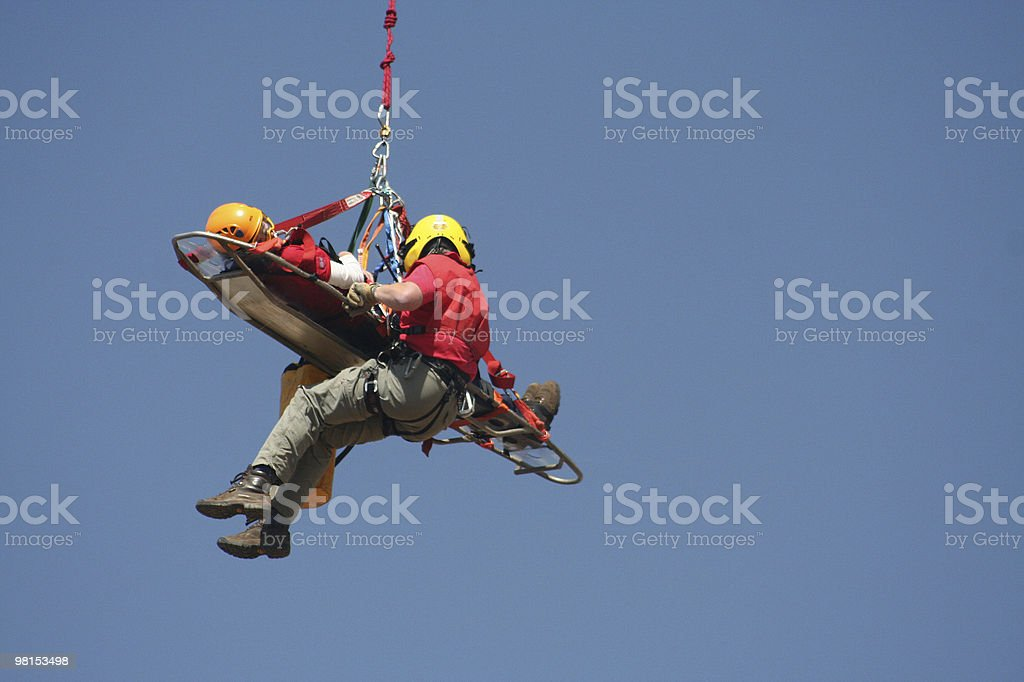 Volunteer rescue worker royalty-free stock photo