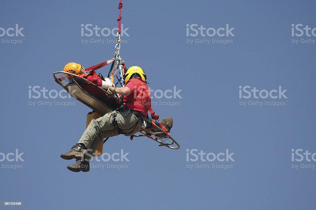 Volunteer rescue worker stock photo