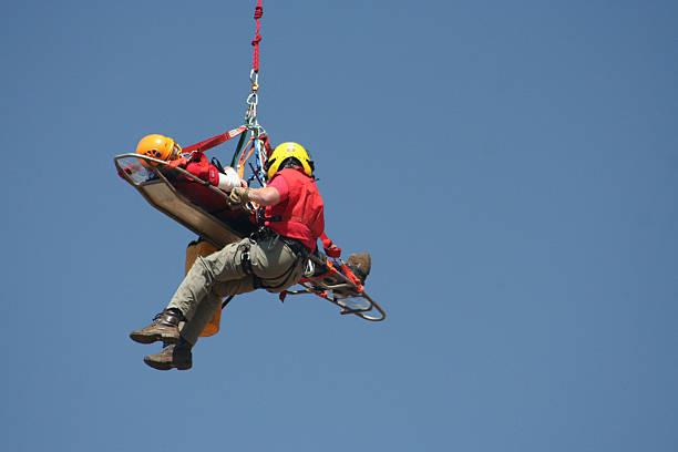 volunteer rescue worker - red stockfoto's en -beelden