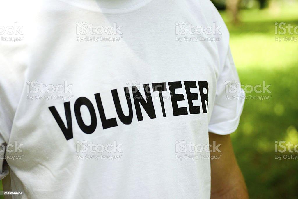 Volunteer T-Shirt stock photo