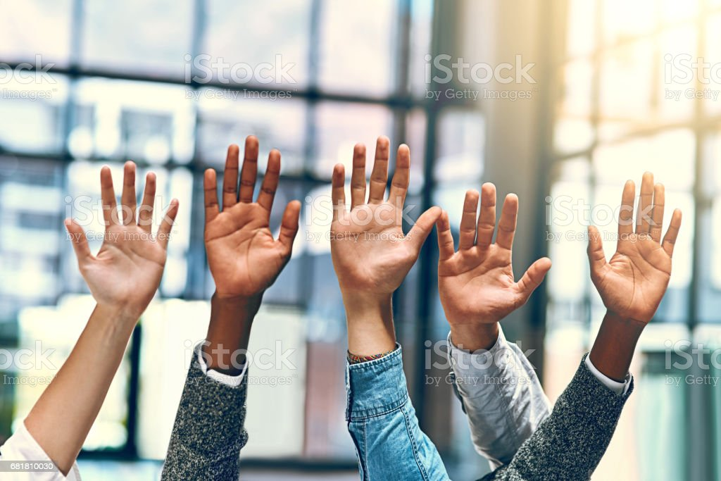 Volunteering for the job stock photo