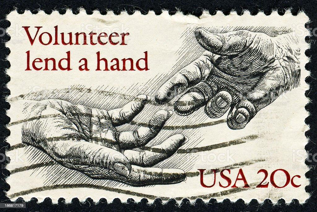 Volunteering Stamp royalty-free stock photo