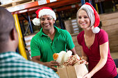 istock Volunteers collecting donations at Christmas 151575138