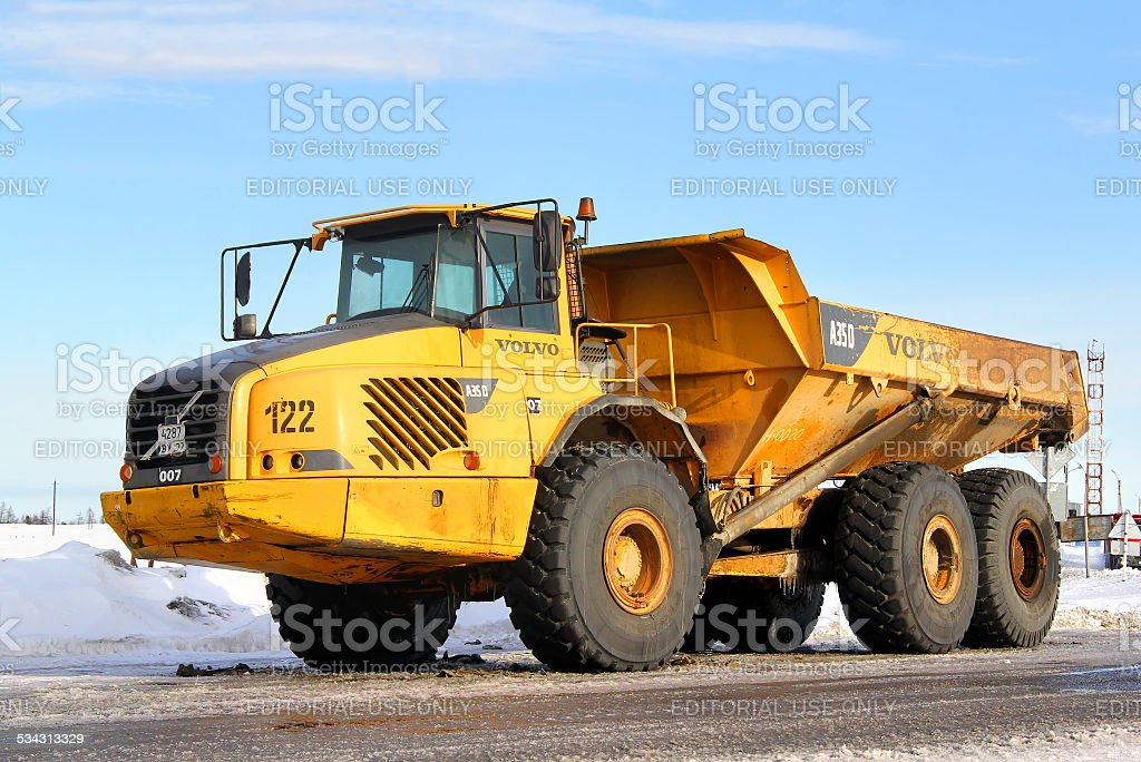 Volvo A35D stock photo