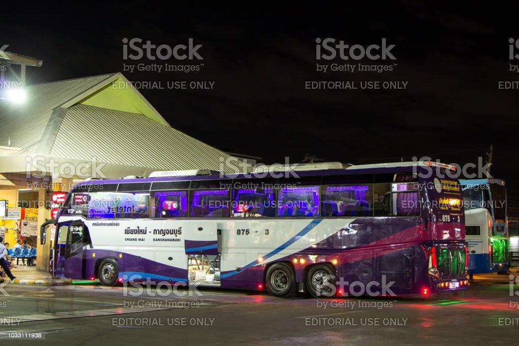 Volvo Bus Of Sasanan Transport Company Stock Photo