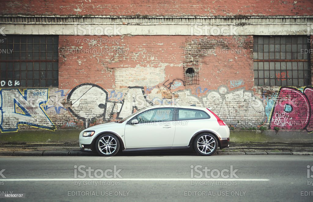 Volvo C30 on the streets royalty-free stock photo