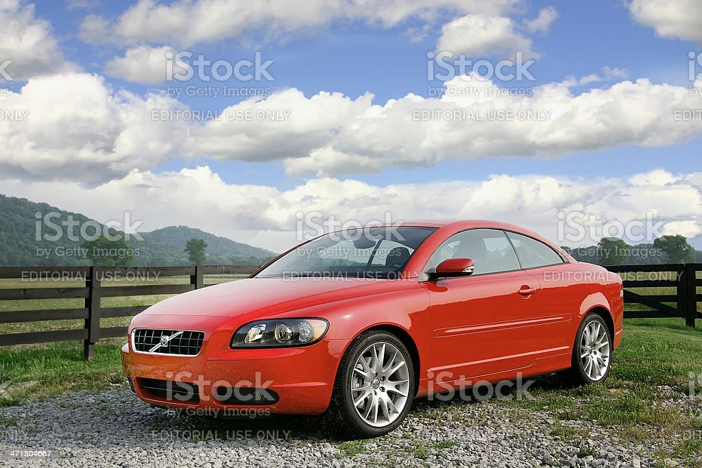 Volvo C70 stock photo