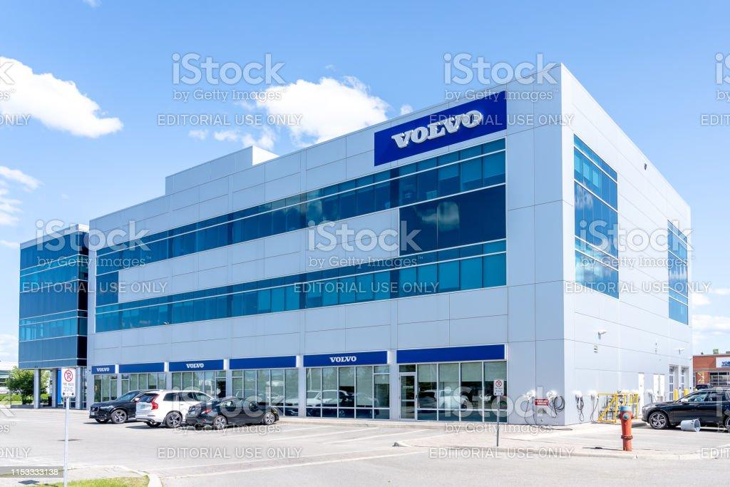 Volvo bil Canada huvud kontor i Richmond Hill, Ontario, Kanada. - Royaltyfri Bil Bildbanksbilder