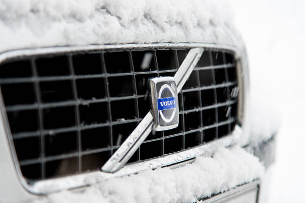 volvo in winter - volvo bildbanksfoton och bilder
