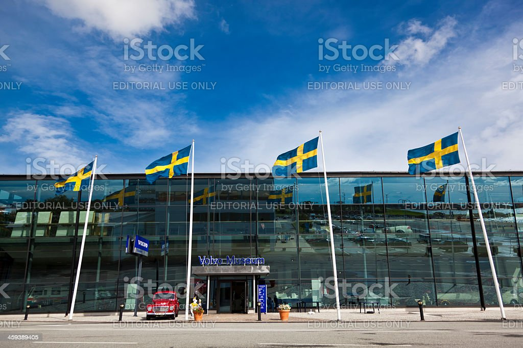 Volvo museum Gothenburg Sweden stock photo