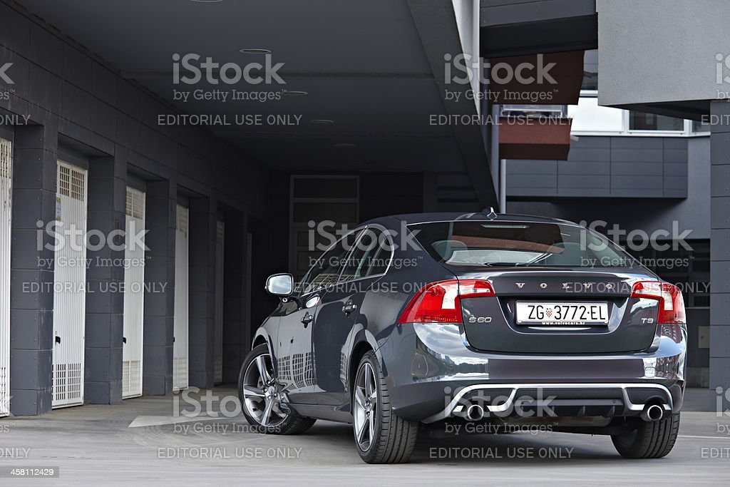 Volvo S60 rear stock photo