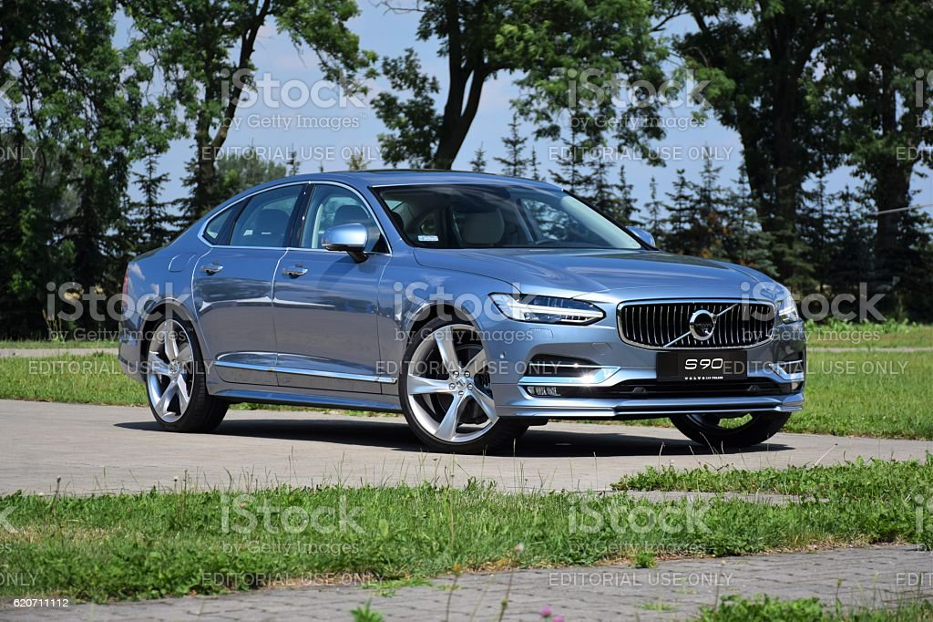 Volvo S90 on the street stock photo