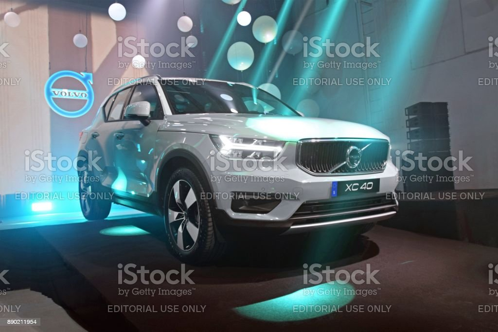 Volvo XC40 on the premiere stock photo