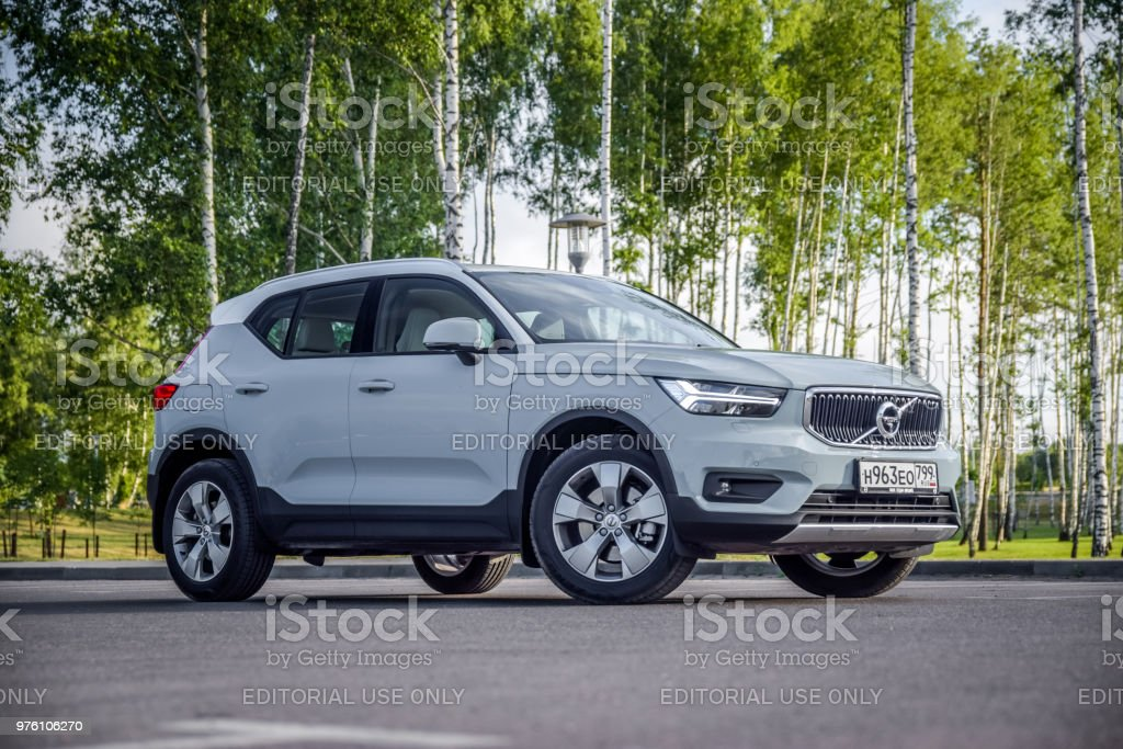 Volvo XC40 Minsk, Belarus - June 13, 2018: Volvo XC40 parked during test drive. Volvo XC40 is the first subcompact SUV made by Volvo. Under the bonnet of this T5 AWD model is a 2.0-litre turbo-petrol engine with a substantial 250bhp. Belarus Stock Photo