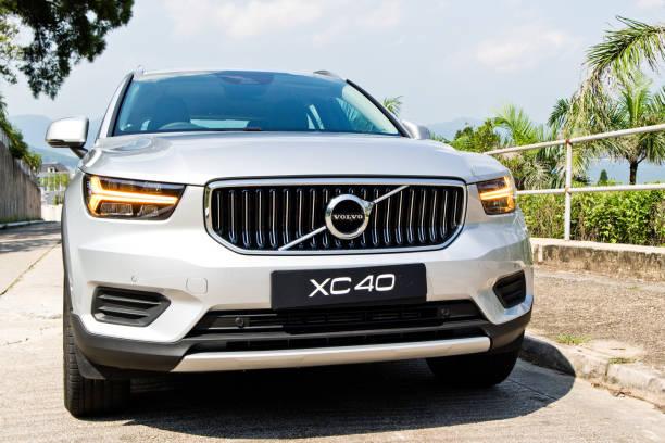 volvo xc40 t4 2018 test drive dag - volvo bildbanksfoton och bilder