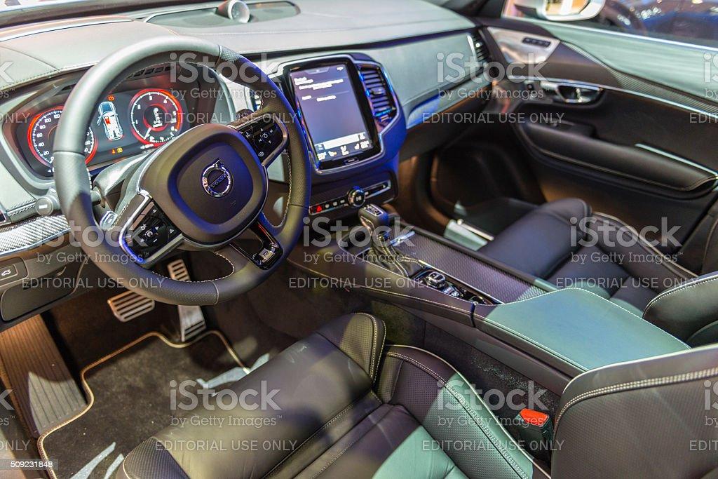 Volvo Xc90 Midsize Luxury Crossover Suv Interior Stock Photo & More ...