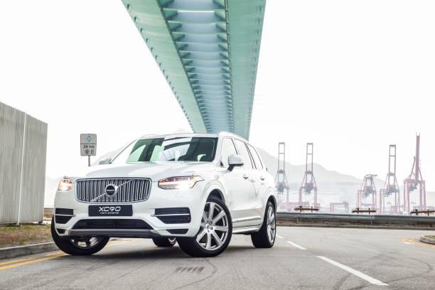 volvo xc90 twin turbo 2017 test drive dag - volvo bildbanksfoton och bilder