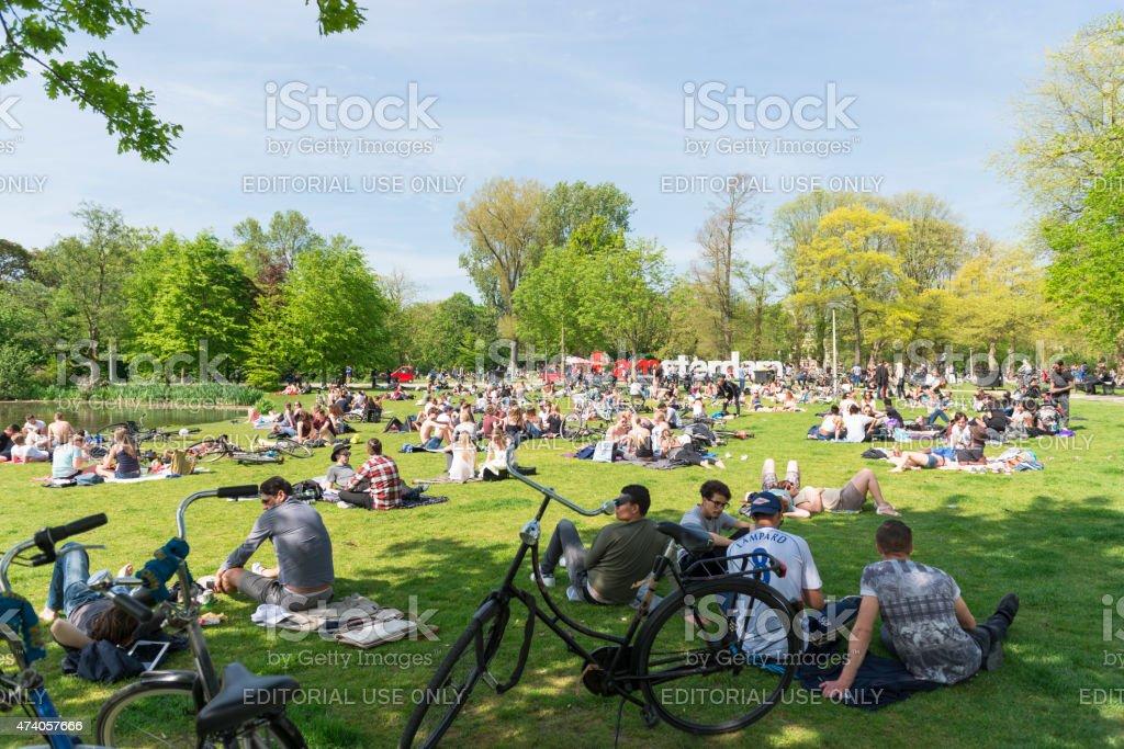 Vondelpark Amsterdam Holland stock photo