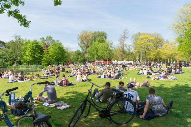 Vondelpark Amsterdam Holland stock photo